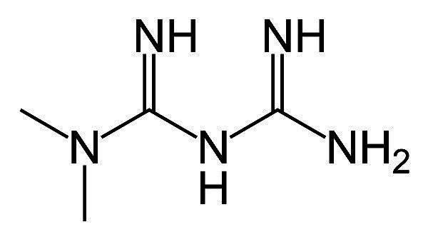 metformin struktur